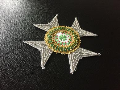 Sachsen-Ernestinischer Hausorden Großkreuz gestickter Bruststern Replik Sachsen-Altenburg Sachsen-Coburg Sachsen-Meiningen