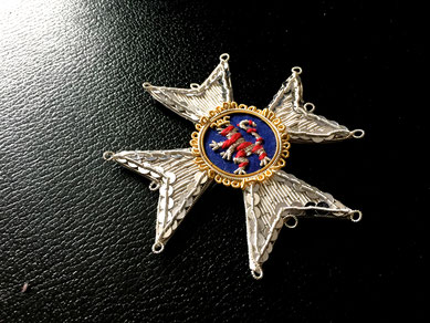 Hessen-Kassel Orden vom Goldenen Löwen Großkreuz gestickter Bruststern