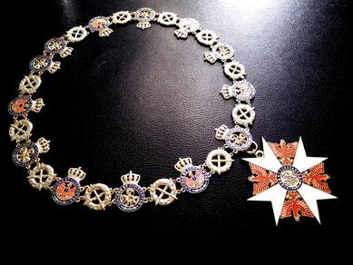 Preußen Roter Adlerorden Großkreuz Ordenskette Goldene Kette Kollane Replik