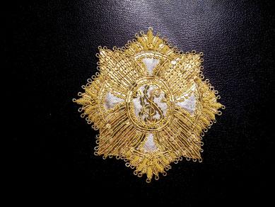 Salzburg St.-Ruperti-Ritterorden Orden des Heiligen Rupert gestickter Bruststern Ordensstern Replik