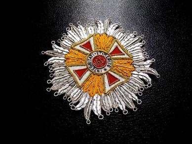 Österreich-Ungarn Leopold-Orden Großkreuz gestickter Bruststern Replik