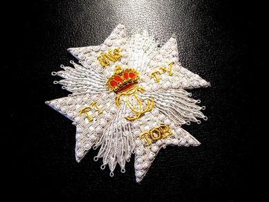 Kurpfalz Bayern Orden vom Pfälzer Löwen Ordensstern gestickter Bruststern