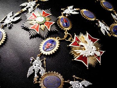 Polen Orden vom Weißen Adler Ordenskette Kollane Bruststern Replik