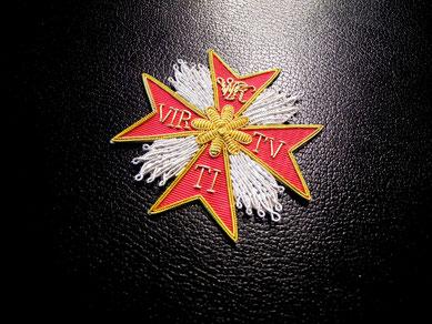 Hessen-Kassel Militär-Verdienstorden Ordre pour la virtu militaire Pensionskreuz gestickter Bruststern Replik