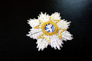 Hessen-Kassel Wilhelms-Orden Großkreuz gestickter Bruststern