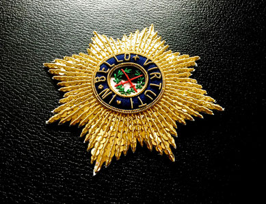 Sachsen Militär-St.-Heinrichs-Orden Großkreuz gestickter Bruststern Replik