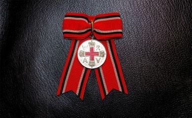 Preußen Rote-Kreuz-Medaille II. Klasse Damenschleife Damendekoration