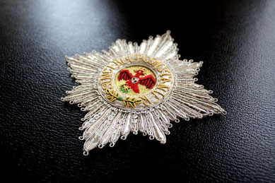 Preußen Großer Roter Adlerorden Ordensstern gestickter Bruststern Replik