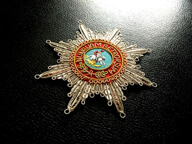 Großbritannien Hannover Guelphen-Orden Großkreuz Schwerter gestickter Bruststern Replik