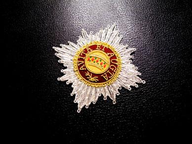 Österreich-Ungarn Orden der Eisernen Krone gestickter Bruststern Replik