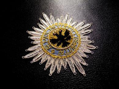 Orden der Reichsritterschaft gestickter Bruststern