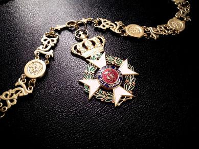 Baden Militär-Carl-Friedrich-Verdienstorden Großkreuz Ordenskette Kollane Replik