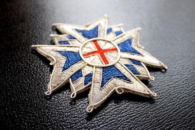 Bayern Hausritterorden vom Heiligen Georg Großkreuz gestickter Bruststern