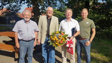 Von links: Peter Radzio, Günther Justen-Stahl, Detlef Cordes, Henning Müller. Foto: A. Ehresmann (GLS), 4.9.2018