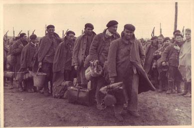 Ankunft französischer Kriegsgefangener im Stalag X B. Foto: unbekannt (Wehrmachtsaufnahme), nicht datiert. GLS