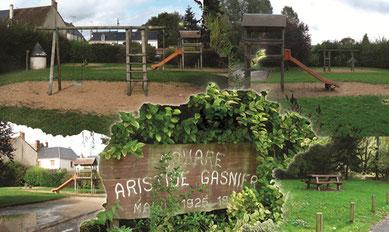 Jardin et aire de jeux à Vibraye - Vallées de la Braye et de l'Anille - Perche Sarthois
