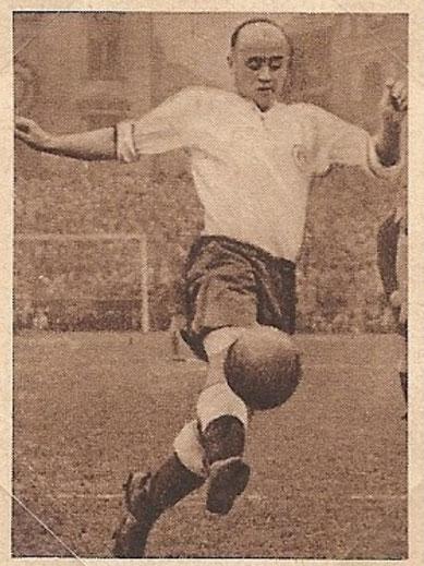 Appel im Trikot des FC St. Pauli (1949/50),  Sammelbild 4, Serie I von OK Kaugummi der Fa. SCHUMA (Mit freundlicher Unterstützung von https://www.fcsp-sammelbilder.de/)