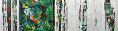 multipart, mehrteilig, grün, weiß, Malerei, abstract, painting, painter, acrylic, canvas, Erlangen, contemporary, art