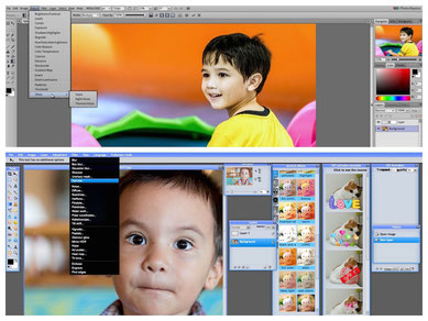 Modern online  image manipulation Photoshop alike user interface