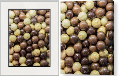 framed paper print and acrylic of chocolate