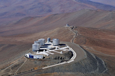 Aerial photograph of the VLT