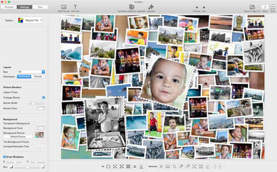 photos collage image combine and mixed pictures desktop application