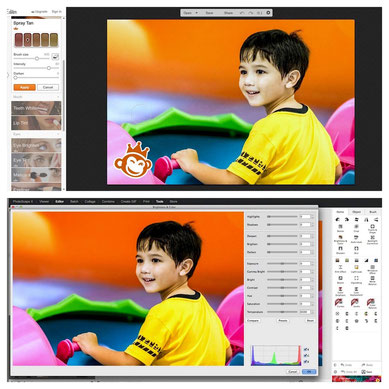 Photo and image editors with different friendly user interface