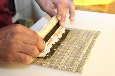 Maki-Zubereitung von unseren Spezialitätenköchen