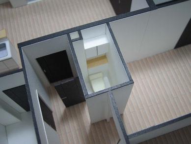 内観模型のトイレ部分
