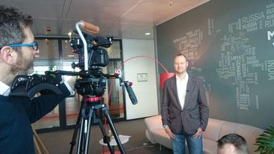 Martin mit Kameramann Stefan Vobis