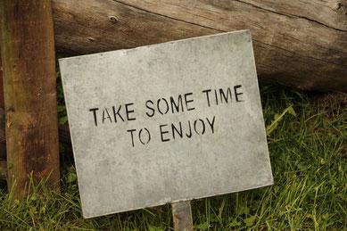 Zeit zu entspannen und genießen