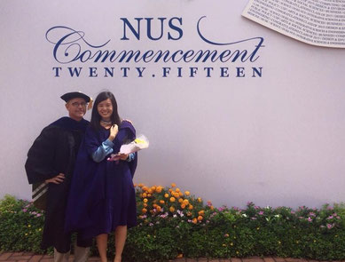 Serene with drZ at the NUS Commencement in 2016