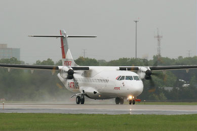 ATR 72-600 taking off at Washington Dulles Airport