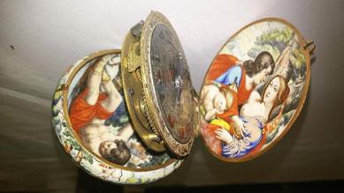 orologio da tavola a campanile, 1600-1625, Germania meridionale, donazione Buno Falck 1973