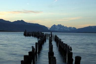 Sonnenuntergang, Patagonien, Südamerika, Chile, Die Traumreiser