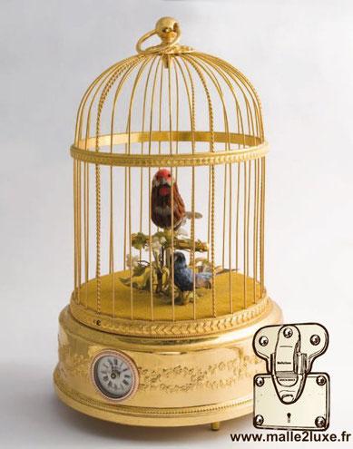 BOÎTE À MUSIQUE Louis VUITTON cage oiseau mécanisme