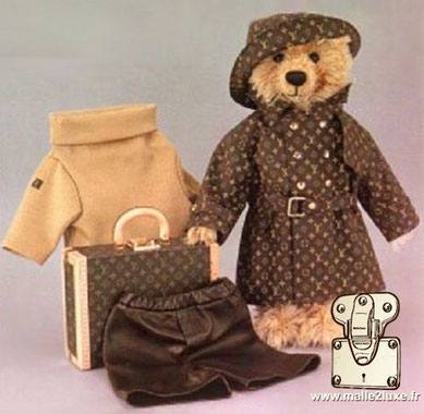Teddy Bear Steiff Louis Vuitton incurable jouet pour grand enfant