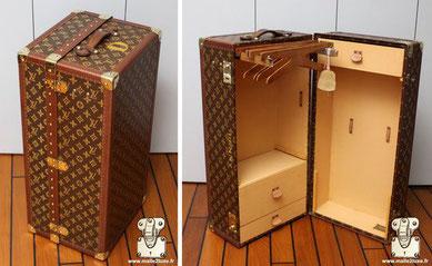malle poupée Louis Vuitton rare superbe mini wardrobe