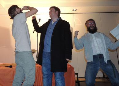 """Das """"Harald - Juhnke - Orchester"""" mischte den Saal mit seinen Vorführungen mächtig auf."""