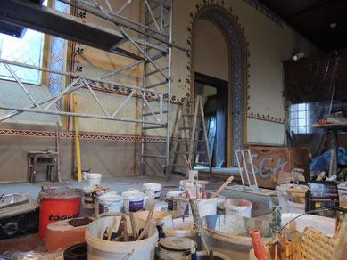 So sah en noch vor Tagen in der Kirche Ribbensdorf aus.