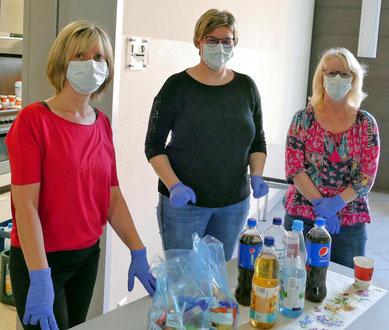 Das Team vom Flechtinger Pflegedienst stellte Getränke und Lunchpakete bereit.