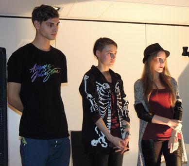 Ruben Jonathan Kröber, Fredericke Lehmann und Sarah Fernschild bildeten den zweiten Block. (v.l.n.r.)