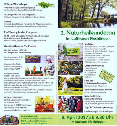 Nix wie hin, zum 2. Naturheilkundetag in Flechtingen.