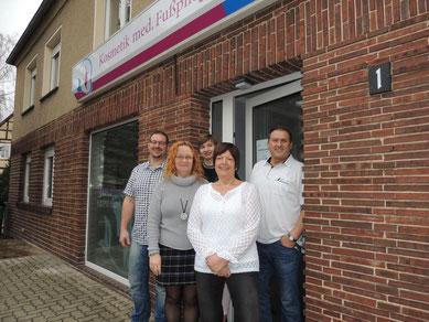"""Das sind sie, die """"Neuen"""" vom Steinweg 1 in Weferlingen. Bert Krüger, Ines Vorbrodt, Luisa Marie Klappoth, Veronika Rumler und Joachim Krüger. (v.l.n.r.)"""