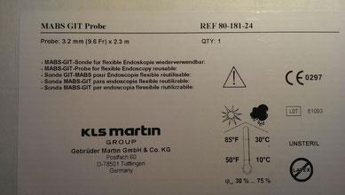 MABS-GIT-Sonde für flexible Endoskophie 80-181-24-04 Martin Argonsonde