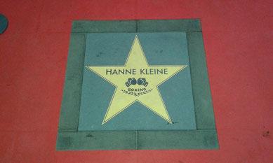 Gedenkstern zu Ehren von Hanne Kleine des früheren Inhabers der Boxerkneipe Ritze in Hamburg auf St. Pauli
