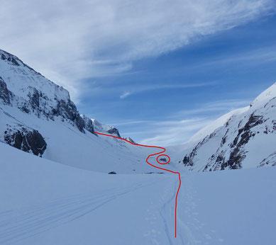 Skitour, Schweiz, Wildhorn, Wildhornhütte, Tagestour, Tagesskitour, Wildhorn an einem Tag, Lenk, BEO, Wildhornhütte, Chilchligletscher