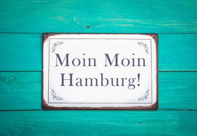 Welcome greeting in Hamburg