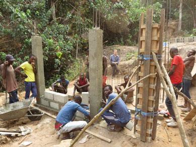 Bauarbeiten am Pumpenhaus
