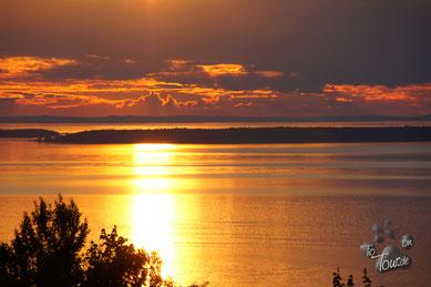 Sundown über dem Vänern-See